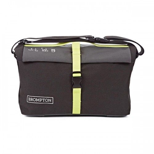 Bolsa Brompton Roll Top Bag Negro y Lima