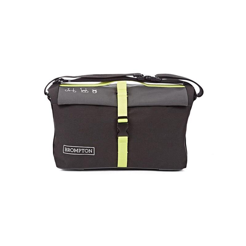 Bolsa Brompton Roll Top Bag Negro y Lima