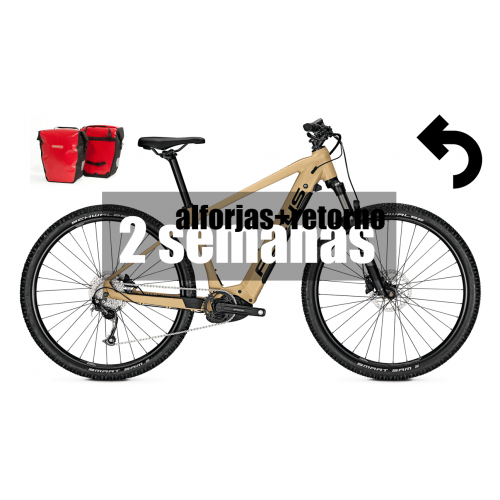 Alquiler bicicleta eléctrica (2 semanas + alforjas + retorno)